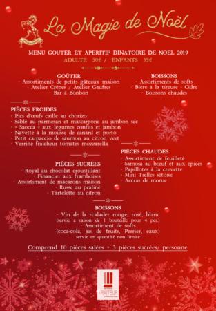 A4 menu magie de noel